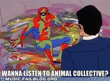 60s spiderman,animal collective,Spider-Man,wtf