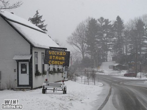 accent hacked new england sign storm warning weather