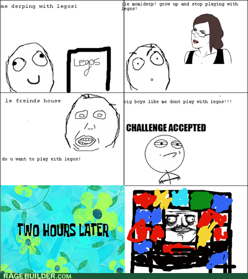Challenge Accepted legos me gusta Rage Comics - 5917055744