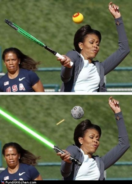 Michelle Obama,political pictures,star wars