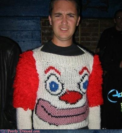 bozo,clown,clown sweater,Hall of Fame,sweater