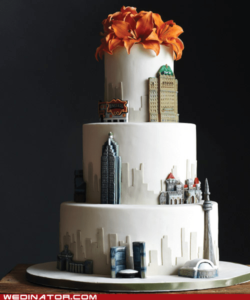 cakes,cities,funny wedding photos,toronto,wedding cake