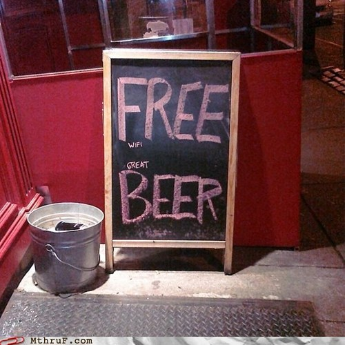 beer,restaurant,sign,wifi