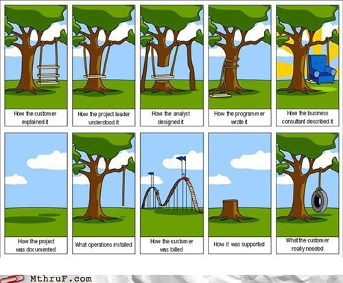 analyst,business,customer,manager,programmer,project leader,tire swing,tree