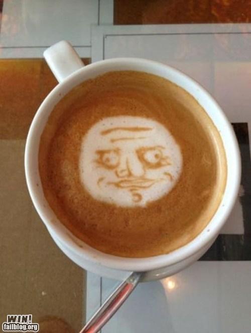 coffee latte latte art me gusta rage face - 5917551872