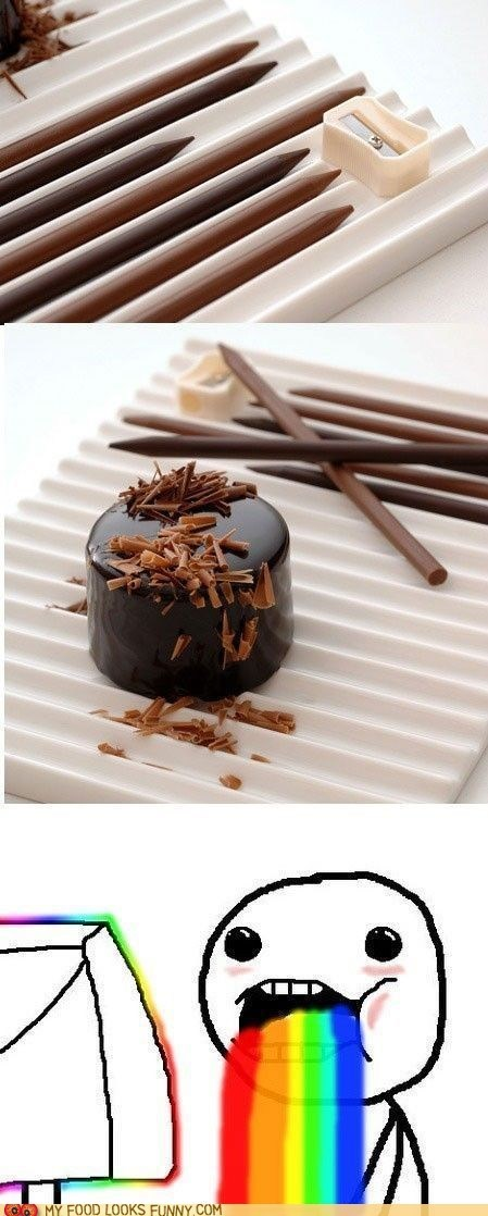 chocolate garnish pencil sharpener shavings sweets