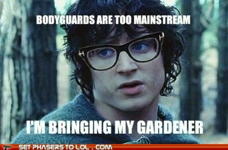 bodyguard,Frodo Baggins,gardener,hipster,Lord of the Rings,mainstream,sam gamgee