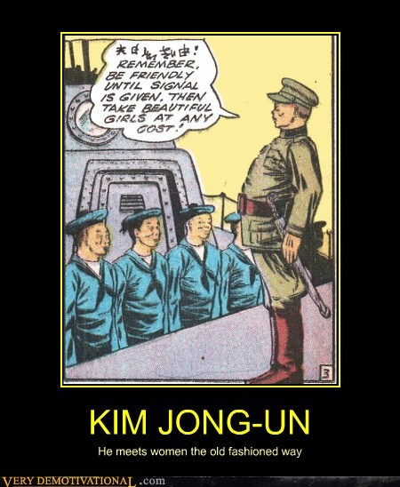 KIM JONG-UN He meets women the old fashioned way