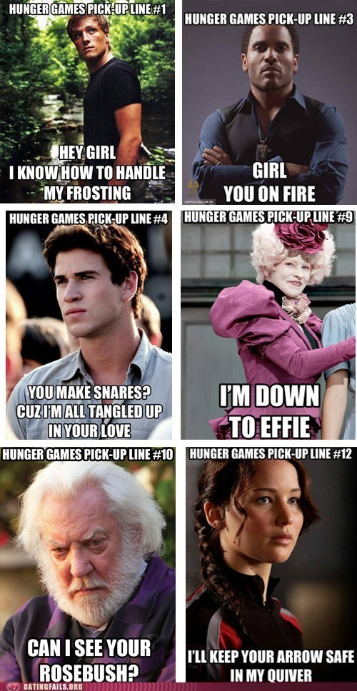 dating fails Hall of Fame hunger games movies pick-up lines