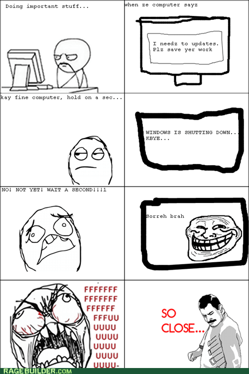 computer,fu guy,Rage Comics,so close