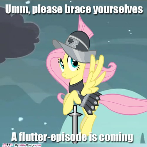 brace yourselves,fluttershy,meme,new episode