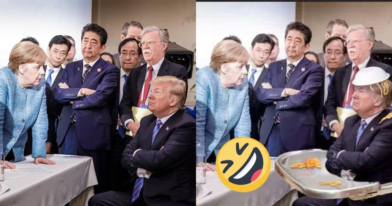 Japan world politics shinzo abe political memes justin trudeau japan memes jo38ma3 world leaders politics donald trump donald trump memes trump memes Germany angela merkel g7 summit germany memes - 5918981