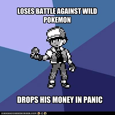 Battle,faint,meme,Memes,money,pokelogic,wild pokemon