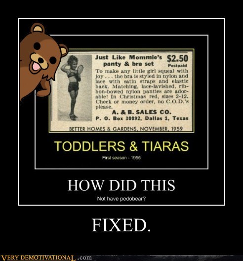 fixed hilarious pedo bear toddlers-tiaras