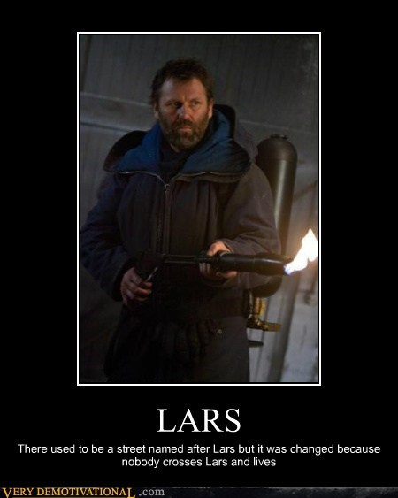 bad arse,flame thrower,hilarious,lars