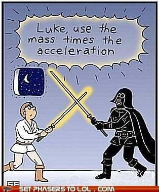 acceleration,best of the week,darth vader,force,Luke,Mass,math,physics,science,star wars