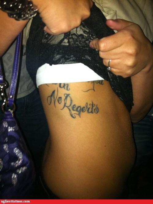 no regrets,regerts,regrets,tat typos