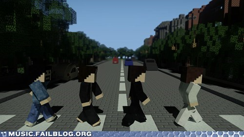 abbey road,minecraft,the Beatles