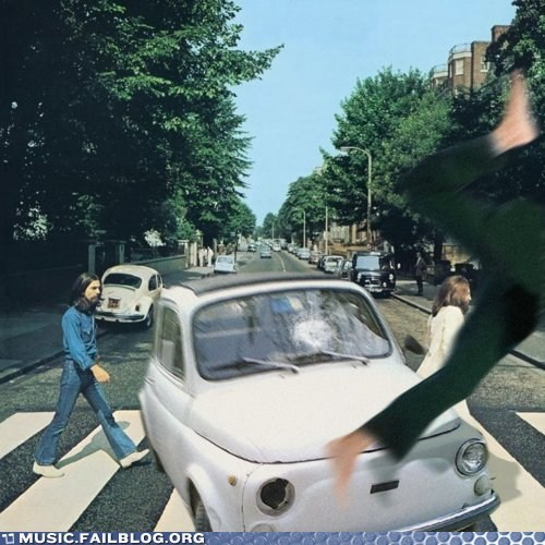 abbey road accident car car accident the Beatles - 5920824320