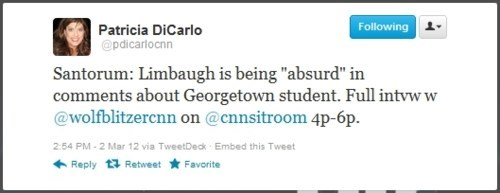 Poignant Reaction Rick Santorum Rush Limbaugh Sandra Fluke - 5920860160