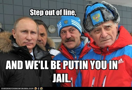 Step out of line, AND WE'LL BE PUTIN YOU IN JAIL.