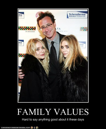 actor,Ashley Olsen,bob saget,celeb,demotivational,funny,Mary Kate Olsen