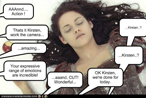 acting,amazing,dead,kristen stewart,pro,snow white,snow white and the huntsman