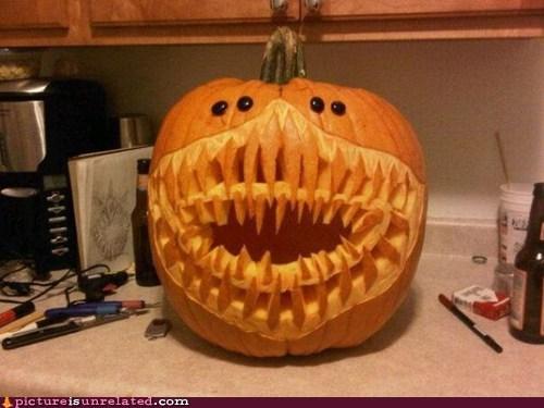 best of week creepy demon jack o lanterns wtf - 5921207296