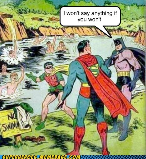 batman clothes robin Super-Lols superman swimming hole - 5921385728