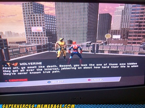 emo Random Heroics Spider-Man video games wolverine - 5921391616