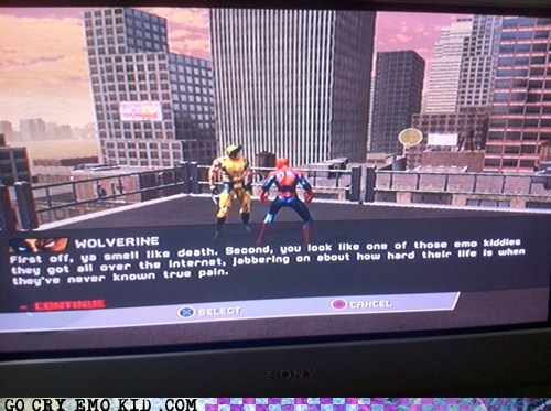 emolulz,Spider-Man,video game,wolverine