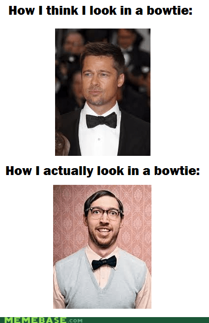 bowtie brad pitt How People View Me nerds - 5921482240