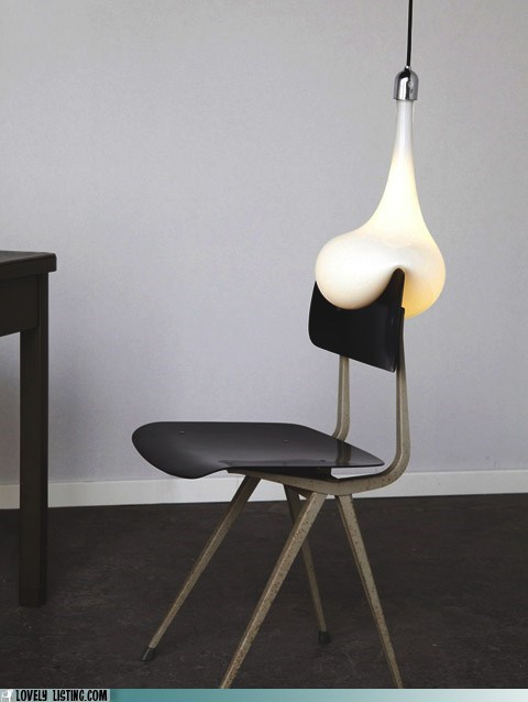 art,blob,chair,lightbulb,sculpture