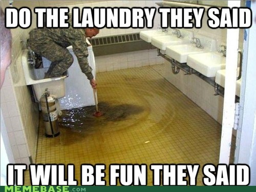 army,fun,laundry,order,They Said