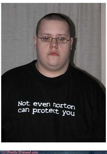 black shirt,mcafee,Norton,norton anti-virus,shirt