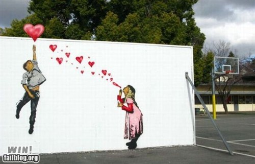 bubbles graffiti hacked irl hearts Street Art - 5922031872