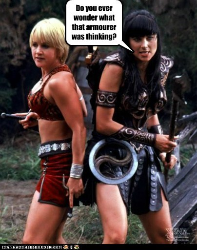 armour gabrielle Lucy Lawless thinking wonder Xena Xena Warrior Princess