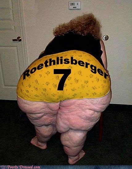 fat Hall of Fame number 7 Roethlisberger steelers