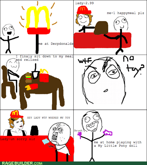 Bronies McDonald's ponies Rage Comics Y U No Guy - 5922183936