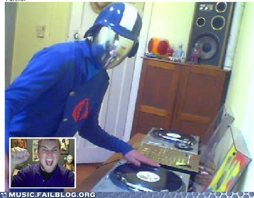 chatroulette cobra commander dj GI Joe