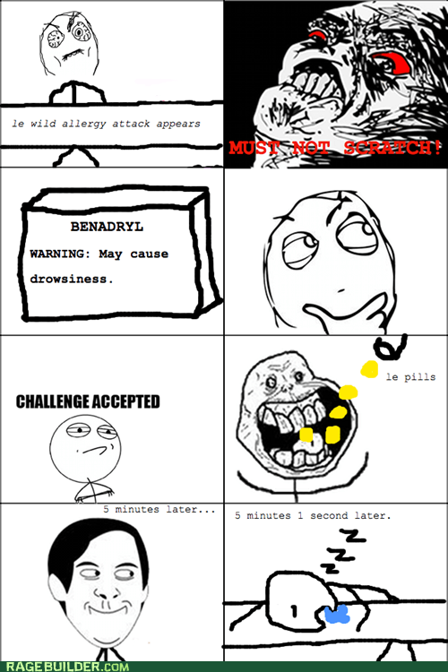 allergies,Rage Comics,raisin rage,sleep,spiderpman