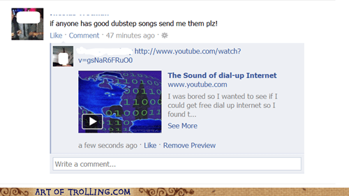 dial up dubstep facebook internet - 5922501888