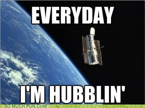 cliché everyday Hall of Fame hubble literalism overused Party rock shuffling similar sounding Telescope - 5923566080