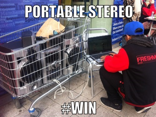 Portable Stereo Win