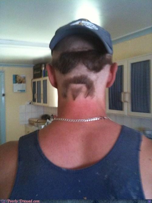back of head hair haircut head mustache - 5923843584