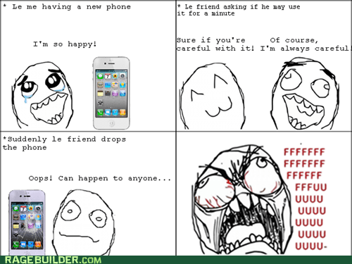broken,fu guy,phone,Rage Comics