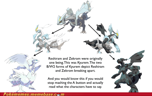 black and white 2 combination kyurem Memes mind not blown reshiram