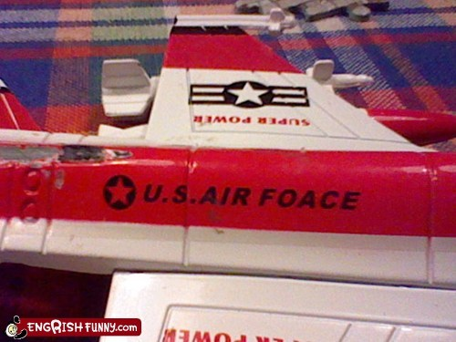 air force engrish plane toy us air force
