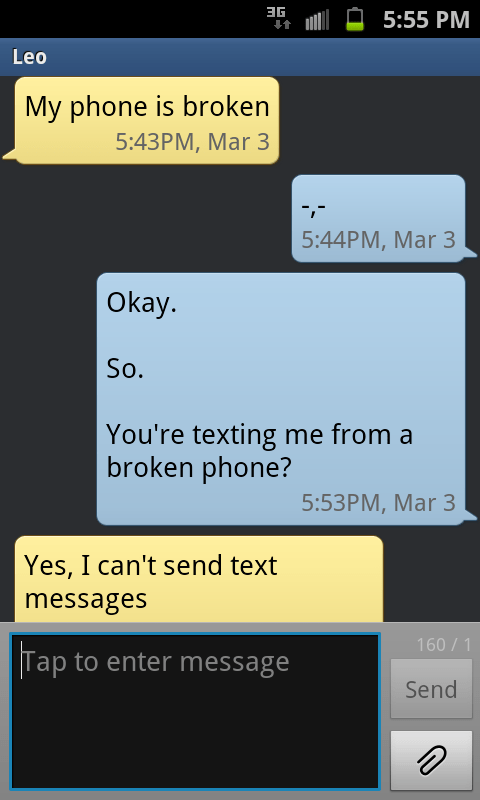 avoiding broken dumb texting - 5926126336