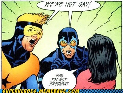 blue beetle pregnant booster gold gay Straight off the Page - 5926273024